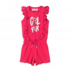 6KPLAYS 13T: Girls Neon Hot Pink Print Playsuit (8-13 Years)