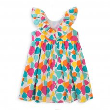Balloon 2B: All Over Printed Poplin Dress (3-12 Months)