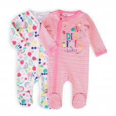 Berry 1: 2 Pack Sleepsuits (0-12 Months)