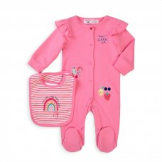 Berry 4: 2 Piece Sleepsuit & Bib Set (0-12 Months)
