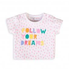Capsule 47: Girls Rainbows T-Shirt (Organic Cotton) (0-12 Months)