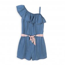 Jungle 1J: Chambray Playsuit With Aop Belt (3-8 Years)