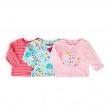 Ladybug 4: 3 Pack Long Sleeve Tops (0-12 Months)