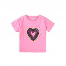 Skittles 2J: Marl T-Shirt With Sequin Heart (3-8 Years)