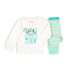 TG PYJ 3K: Girls 2Pc Girl Stripes Pyjama Set (1-3 Years)
