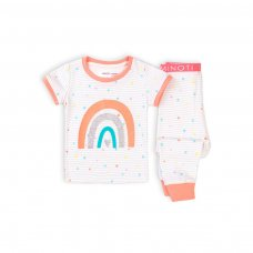 TG PYJ 6K: Girls 2Pc Rainbow Stars S/S Pyjama Set (1-3 Years)