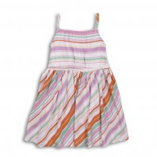 Sand 1P: Multi Striped Dress (3-8 Years)