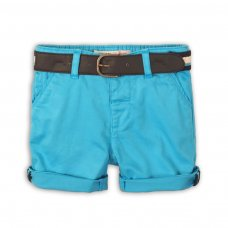 Sunset 6: Turquoise Chino Short With Belt (9 Months-3 Years)