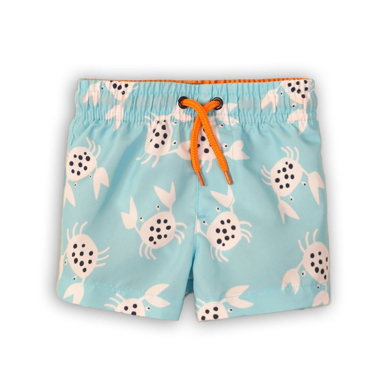 TB BOARD 16: Aop Crab Board Shorts (9 Months-3 Years)