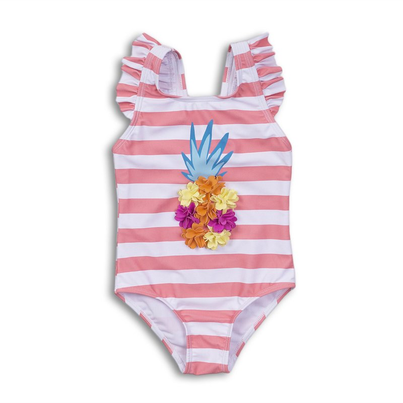 TG SWIM 13: Aop Stripe Pineapple Swimsuit (9 Months-3 Years)