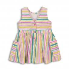 Toucan 6: Striped Dress (0-12 Months)