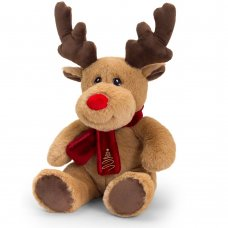 SX6364: 20cm Keeleco Reindeer With Scarf (100% Recycled)