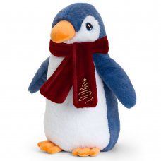 SX6367: 20cm Keeleco Penguin With Scarf (100% Recycled)