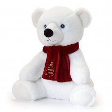SX6370: 20cm Keeleco Polar Bear With Scarf (100% Recycled)