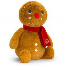 SX6373: 20cm Keeleco Gingerbread Man With Scarf (100% Recycled)
