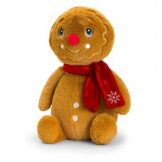 SX6374: 25cm Keeleco Gingerbread Man With Scarf (100% Recycled)