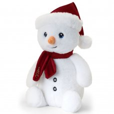 SX6376: 20cm Keeleco Snowman With Scarf (100% Recycled)