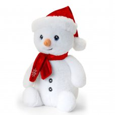 SX6377: 25cm Keeleco Snowman With Scarf (100% Recycled)