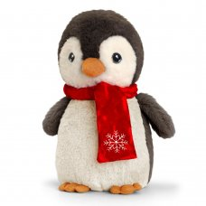 SX8159: 25cm Christmas Keeleco Penguin With Scarf