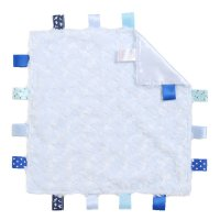 BC12-B: Blue Rose Comforter with Taggies