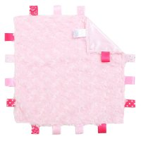 BC12-P: Pink Rose Comforter with Taggies
