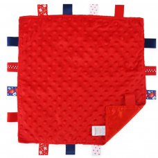 BC15-R: Red Bubble Comforters with Taggies