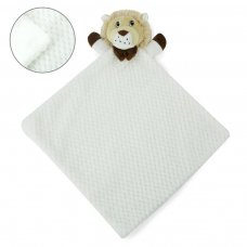 BC46-W: White Waffle Lion Comforter