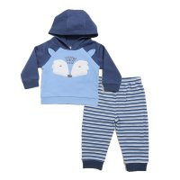 BG304: Boys Blue 2 Piece Hooded Tracksuit Set (6-18 Months)