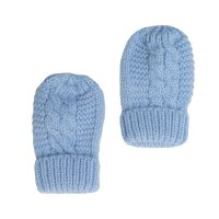 BM08-B: Blue Ribbed Mittens
