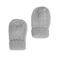 BM08-G: Grey Ribbed Mittens