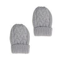 BM10-G: Grey Chevron Mittens