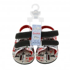 E184: Vehicle Print EVA Sandals (15-24 Months)