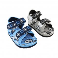 E186: No 1 Football Print EVA Sandals (9-18 Months)