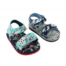 E192 Football Print EVA Sandals w/Patch (15-24 Months)
