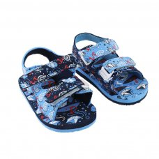 E196: Anchor/Nautical Print EVA Sandals (15-24 Months)