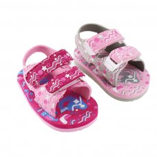 E202: Mermaid  Print EVA Sandals (15-24 Months)