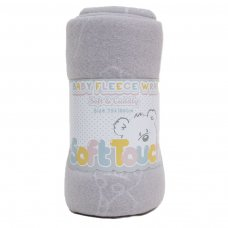 FBP05-BP-G: Grey Embossed Baby Wrap (Bulk Pack)