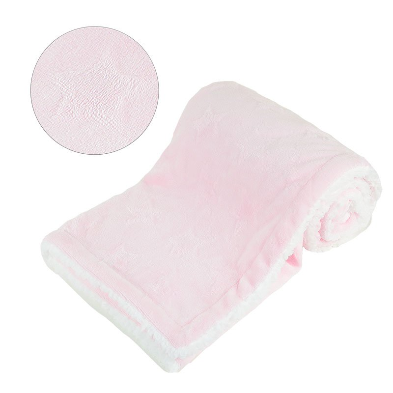 Amazing Quality Gift 75x100cm Baby Bubble Embossed Pink Mink Blanket Wrap