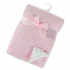 FBP212-P: Pink Deluxe Star Embossed Flannel Pink Wrap