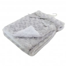 FBP30-G: Deluxe Grey Rose Mink Wrap