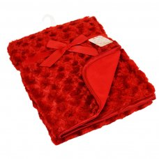 FBP66-R: Red Rose Baby Mink Wrap