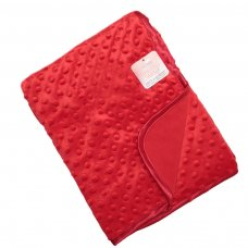 FBP80-BP-R: Red Bubble Embossed Baby Mink Wrap (Bulk Pack)