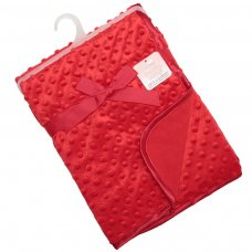 FBP80-R: Red Bubble Embossed Baby Mink Wrap
