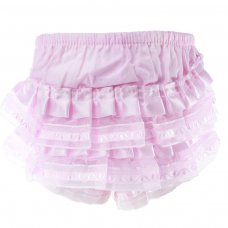 FP09-P: Pink Cotton Frilly Pants (0-18 Months)