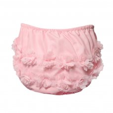FP18-P: Pink Cotton Frilly Pants (NB-18 Months)