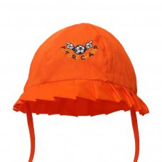 H40-O: Plain Orange Summer Hat w/Football Emb (0-24 Months)