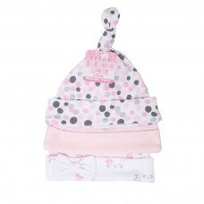 H51: Girls 3 Pack Bunny Hats (0-9 Months)