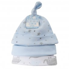 H56: Boys 3 Pack Elephant Hats (0-9 Months)