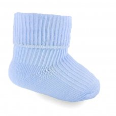 PRS07-B: 2 Pack Premature Blue Turnover Socks