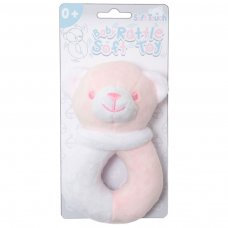 RT21-P: Pink Bear Rattle Toy